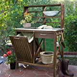 Belham Living Winfield Acacia Wood Potting Bench