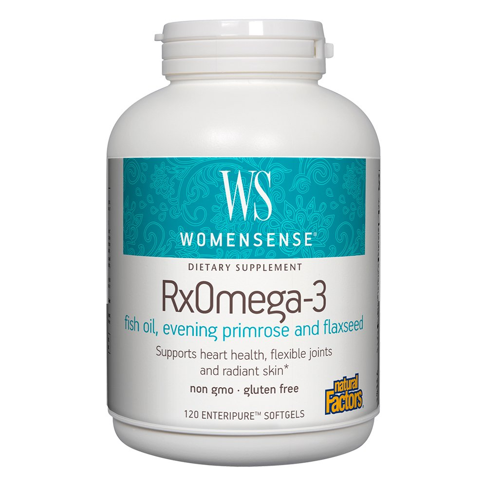 Natural Factors - WomenSense RxOmega-3 Factors Women's Blend, Supports Heart Health & Flexible Joints, 120 Soft Gels