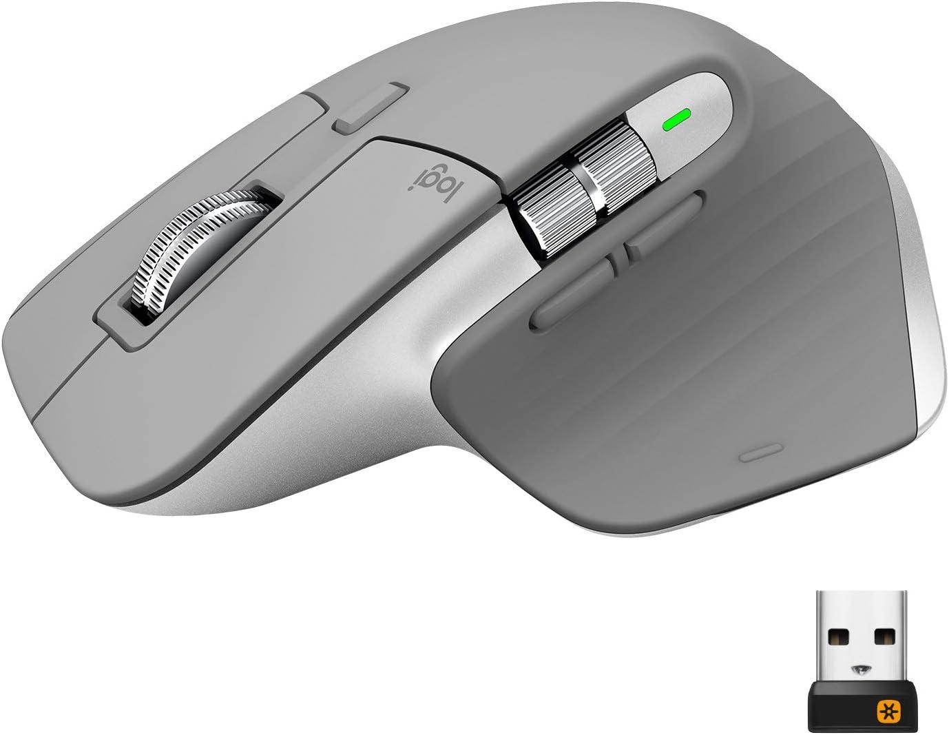 Logitech MX Master 3 Advanced Ratón Inalámbrico, Receptor USB, Bluetooth/2.4GHz, Desplazamiento Rápido, Seguimiento 4000 DPI en Cualquier Superficie, 7 Botones, Recarcable, PC/Mac/Portátil/iPadOS