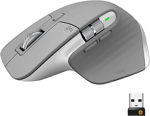 Logitech MX Master 3 Advanced Ratón Inalámbrico, Receptor USB, Bluetooth, 2.4GHz, Desplazamiento Rápido, Seguimiento 4K DPI en Cualquier Superficie, 7 ...