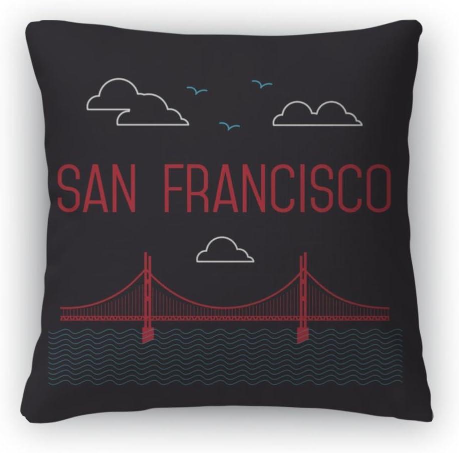 Gear New Throw Pillow, 26×26, San Francisco Golden Gate Bridge San Francisco Landmark