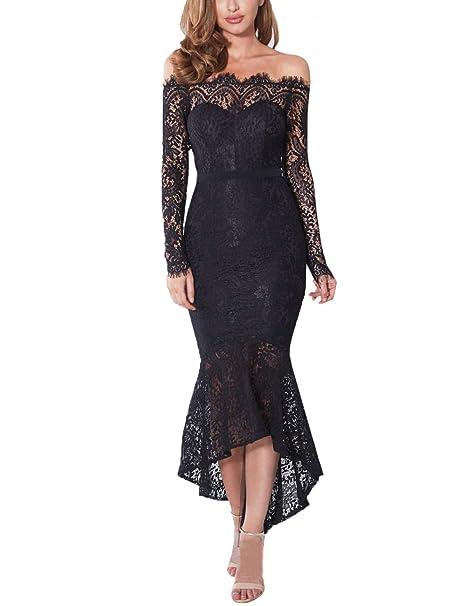 Merry Women Off Shoulder Evening Wedding Party Dress Bardot