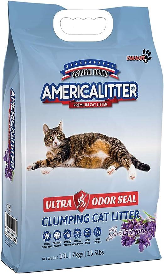 Arena para Gatos superaglutinante con Control de olores, 10 litros ...