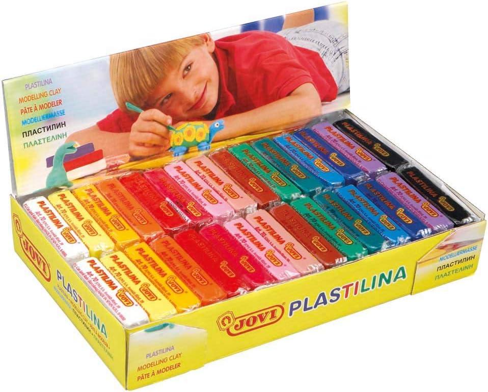 Jovi 729925 - Plastilina vegetal, un paquete de 30 unidades x 50 gr, multicolor