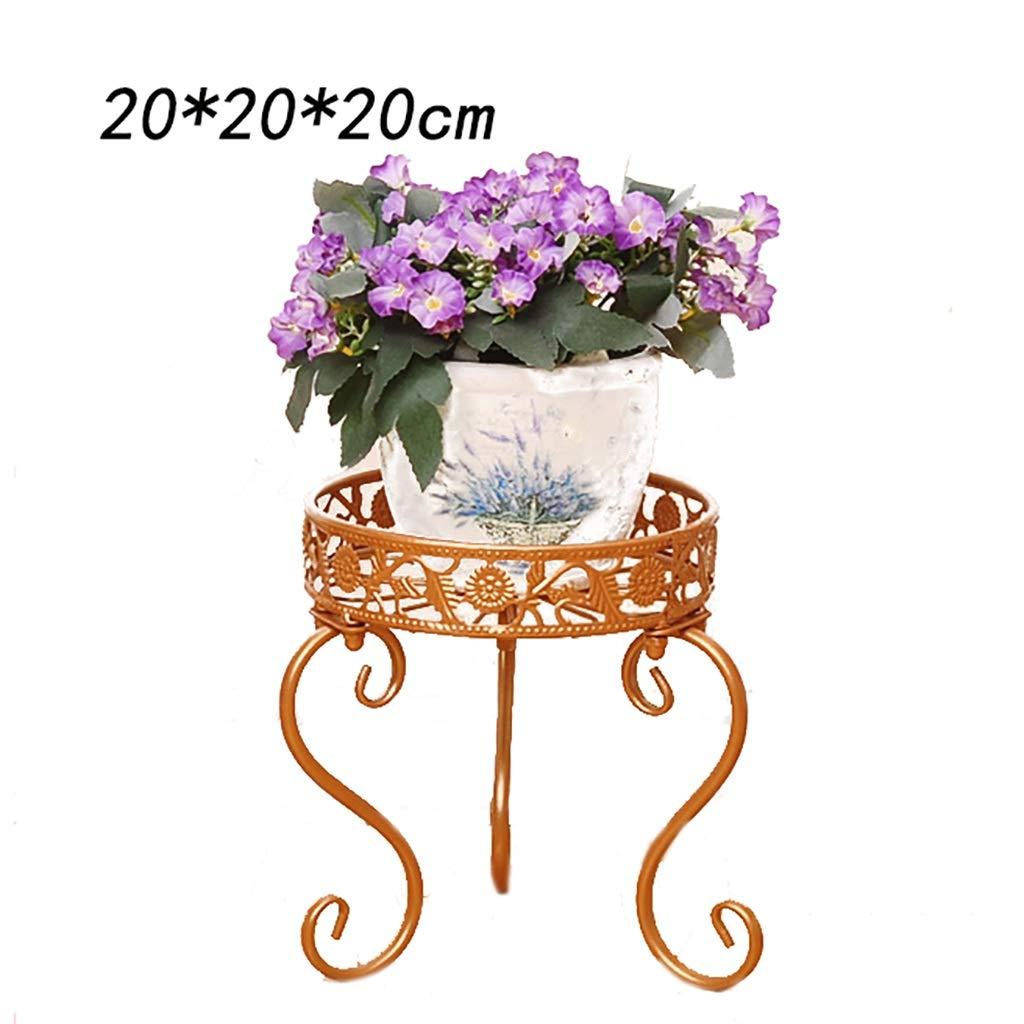 LIZIHUAJA Piantana in Ferro Mensola in Stile Europeo Scaffale per Desktop Terracotta Indoor e Outdoor Decoro per mobili 3 Colorei (colore   B, Dimensioni   20  20  20CM)
