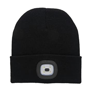 3e6ca73cfed Wing Bind LED Hat Winter Warning Torch Light Up Running Beanie Hat ...