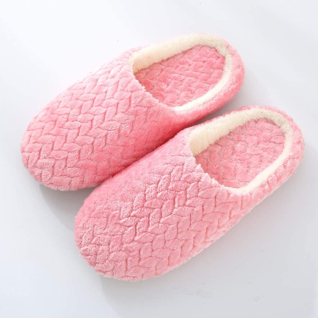 Dazlinea Women Winter House Slippers Jacquard Warm Non-Slip Slip-On Flat Snow Shoes