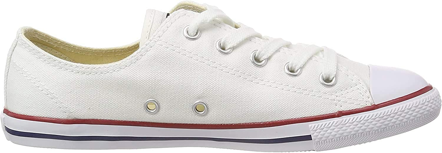 Converse Women's Chuck Taylor Ct as Dainty Ox Canvas Fitness Shoes Optical White