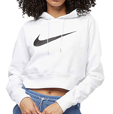 Nike Swoosh Hoodie Crop Ft Sweat à Capuche Femme: