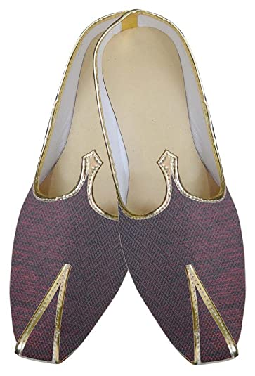 Mens Maroon Indian Wedding Shoes MJ0085