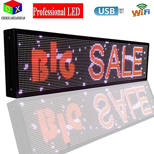 P6 7-Color Indoor led Sign and USB programmable Scrolling Texts & Time LED Display by CXGuangDian (Image #1)