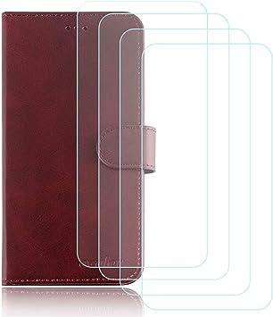 DQG Funda para Elephone P8 Mini Flip Folio Caja PU Cuero Caso ...