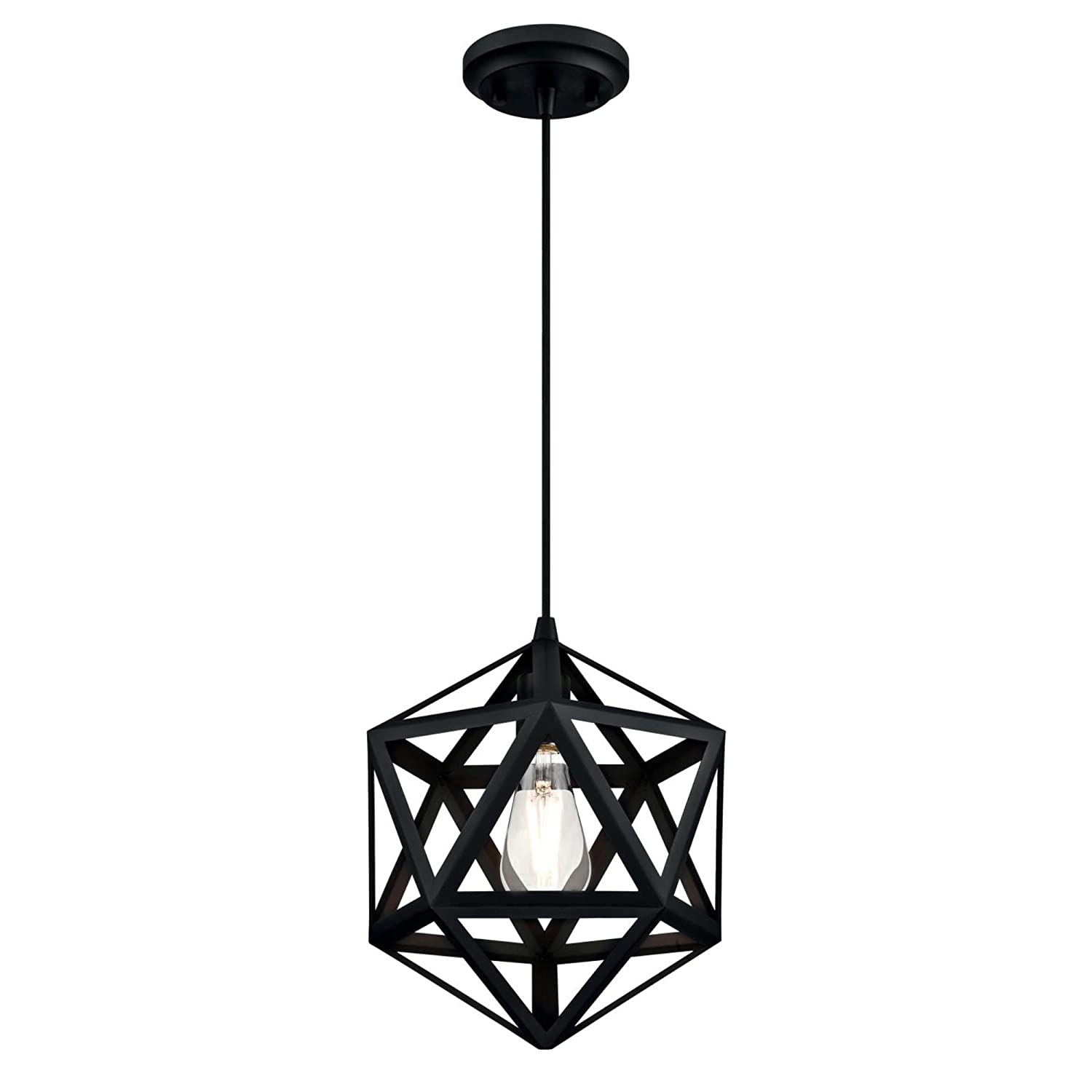 Westinghouse  6355700 One-Light Indoor Pendant Matte Black Finish