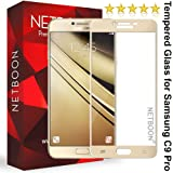 Netboon Samsung Galaxy C9 Pro Premium Tempered Glass Screen Protector Full Edge To Edge Cover Screen Guard - Gold