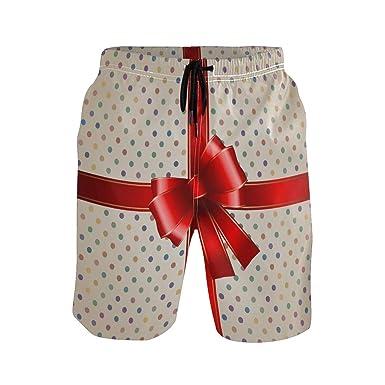 SXYK Regalo con Cinta roja para Hombre, Pantalones Cortos de ...