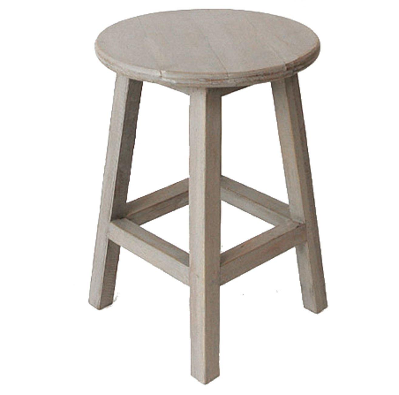 pf-006-w 30.0x30.0x44.5 GREY-WASH (ヨンユー) 4u 丸椅子 木製 スツール 丸いす イス チェアー pf-006-w B016Y5FB5I  GREYWASH 30.0x30.0x44.5