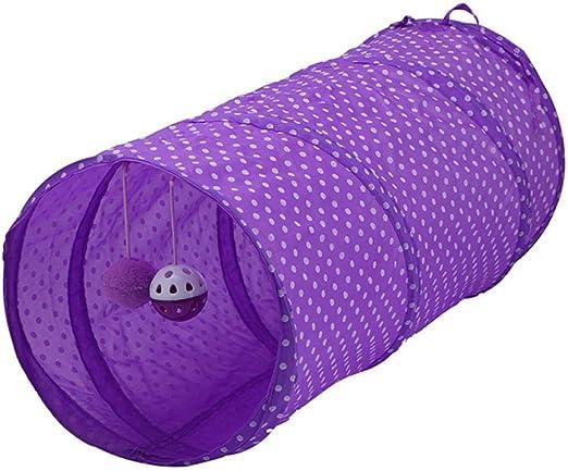 Gulunmun Túneles para Gatos Artículos para Gatos Tubos Y Túneles para Animales Pequeños Nuevo Gato Túnel Plegable 2 Agujeros con Campanas Gatito Juguete Conejo Túnel Gato Cueva Gato Ju: Amazon.es: Productos para