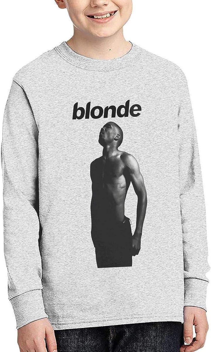 RhteGui Frank Ocean Blonde Boys /& Girls Junior Vintage Long Sleeve T-Shirt Black