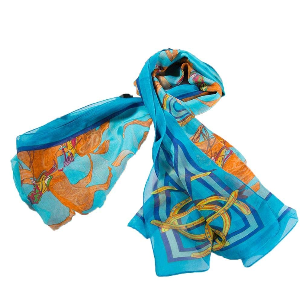 Weiwei Women's Silk Shawl Silk Scarf Light and Breathable Send Friends and Family 100CM250CM