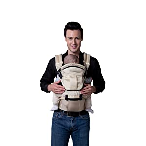 ECOSUSI Polyester Baby Carrier Infant Comfort Kid's Waist Stool Backpacks Carrier Belt Hip Seat Beige