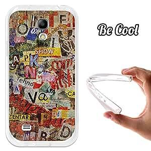 BeCool® - Funda Gel Flexible Samsung Galaxy S4 mini Viejos Periódicos Rotos Carcasa Case Silicona TPU Suave