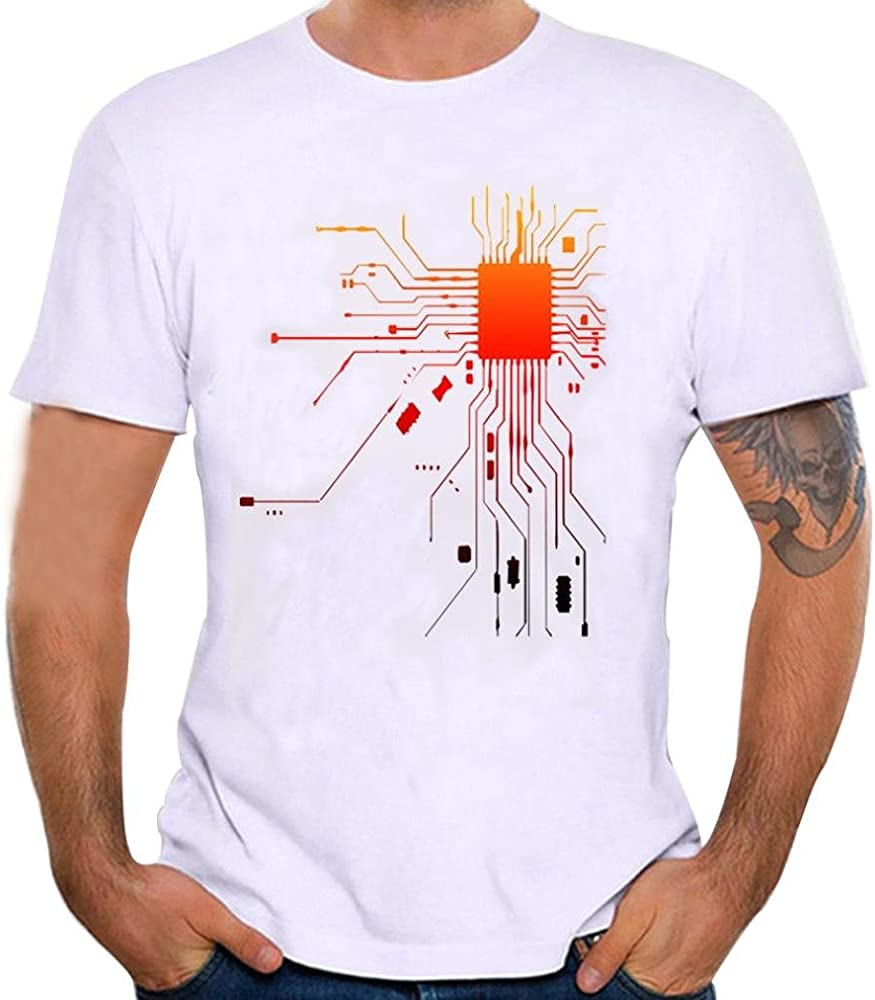 Camisetas Hombre Manga Corta, Venmo Hombres impresión Camisetas Hombre Originales Divertidas Camisetas Hombre Manga Corta (Blanco, S): Amazon.es: Ropa y accesorios