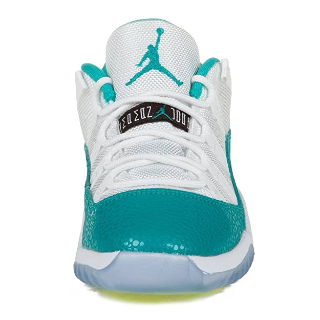 Amazon.com | Nike Boys Jordan 11 Retro Low GP Gamma White/Turbo Green-Volt Synthetic Athletic Sneakers Size 1.5Y | Basketball