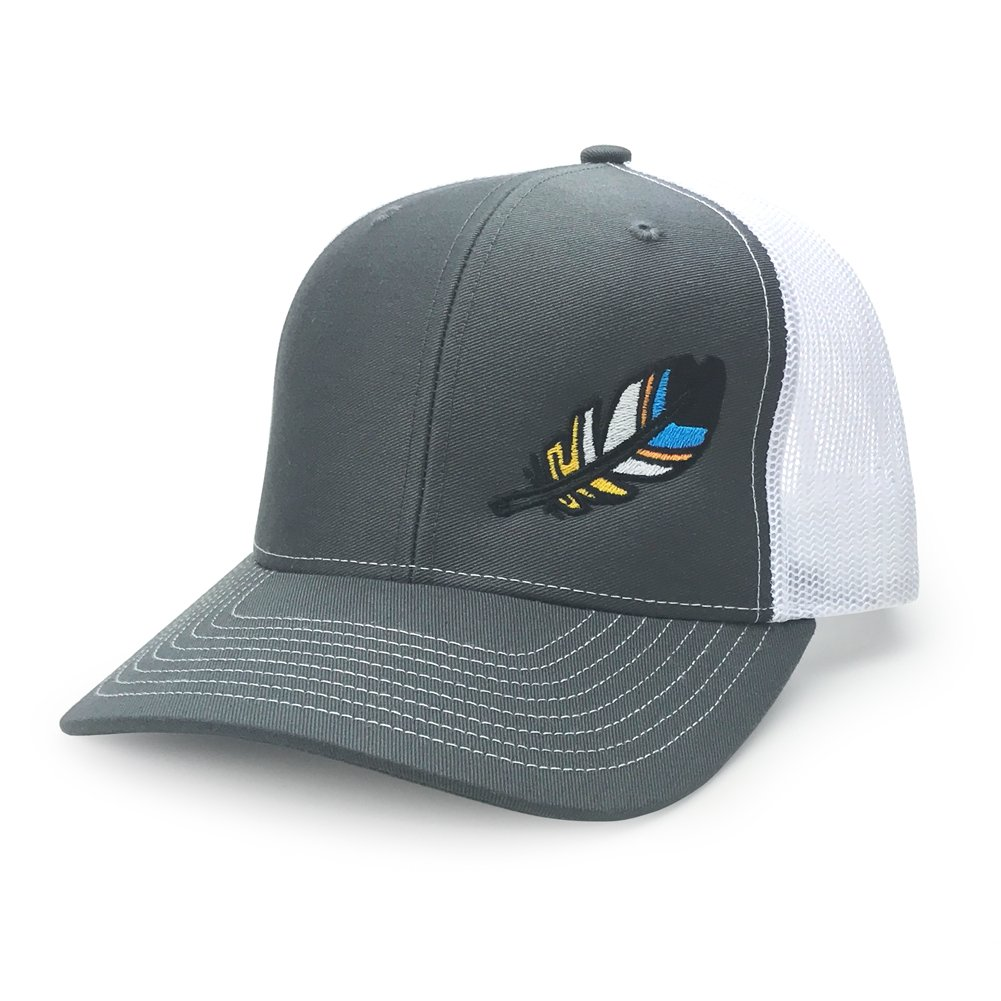 WUE The Outdoors Spirit Feather Trucker Hat