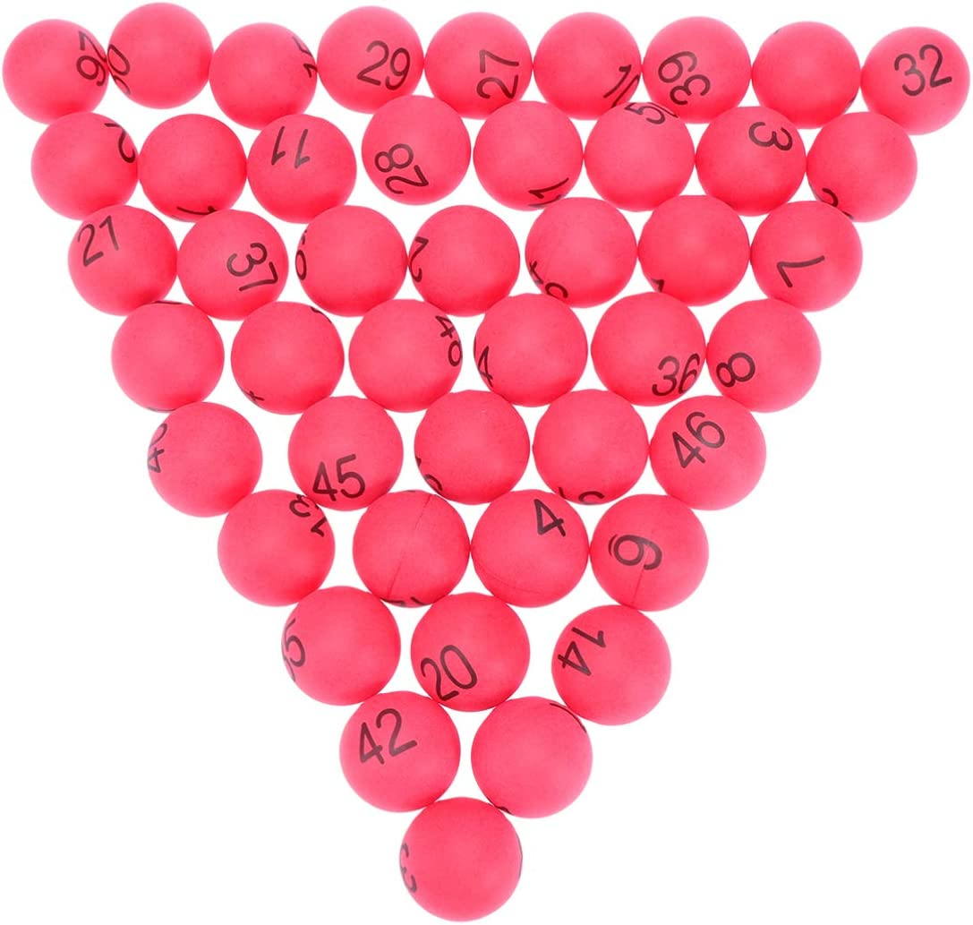 TOYANDONA 100 pcs en Plastique Balles De Tennis De Table 4 cm Num/érot/é Bingo Boule De Loterie Boules Color/ées Ping Pong Boules 1-100 De Mariage F/ête danniversaire Fournitures Blanc
