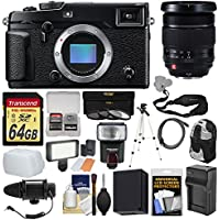 Fujifilm X-Pro2 Wi-Fi Digital Camera Body with 16-55mm f/2.8 Lens + 64GB Card + Backpack + Flash + Video Light + Mic + Battery + Kit