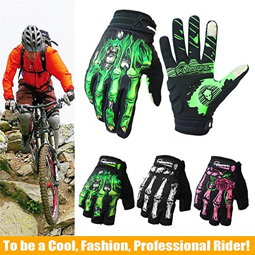 Cycling Gloves Mountain Bike Gloves Bicycle Riding Gloves Touchscreen Motorcycle Gloves Full Finger Workout Gloves Skeleton Gloves for Men and Women