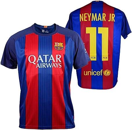 FC BARCELONA- Camiseta 1ª Equipación Adulto 2016-2017, Réplica Oficial NEYMAR- Talla M: Amazon.es: Deportes y aire libre