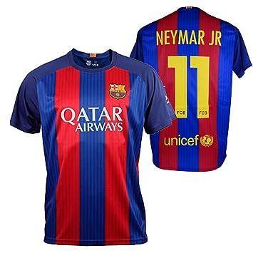 FC BARCELONA- Camiseta 1ª Equipación Adulto 2016-2017, Réplica Oficial NEYMAR- Talla