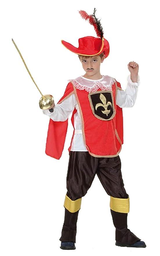 EL CARNAVAL Disfraz Mosquetero Talla de 6 a 8 años: Amazon.es: Hogar