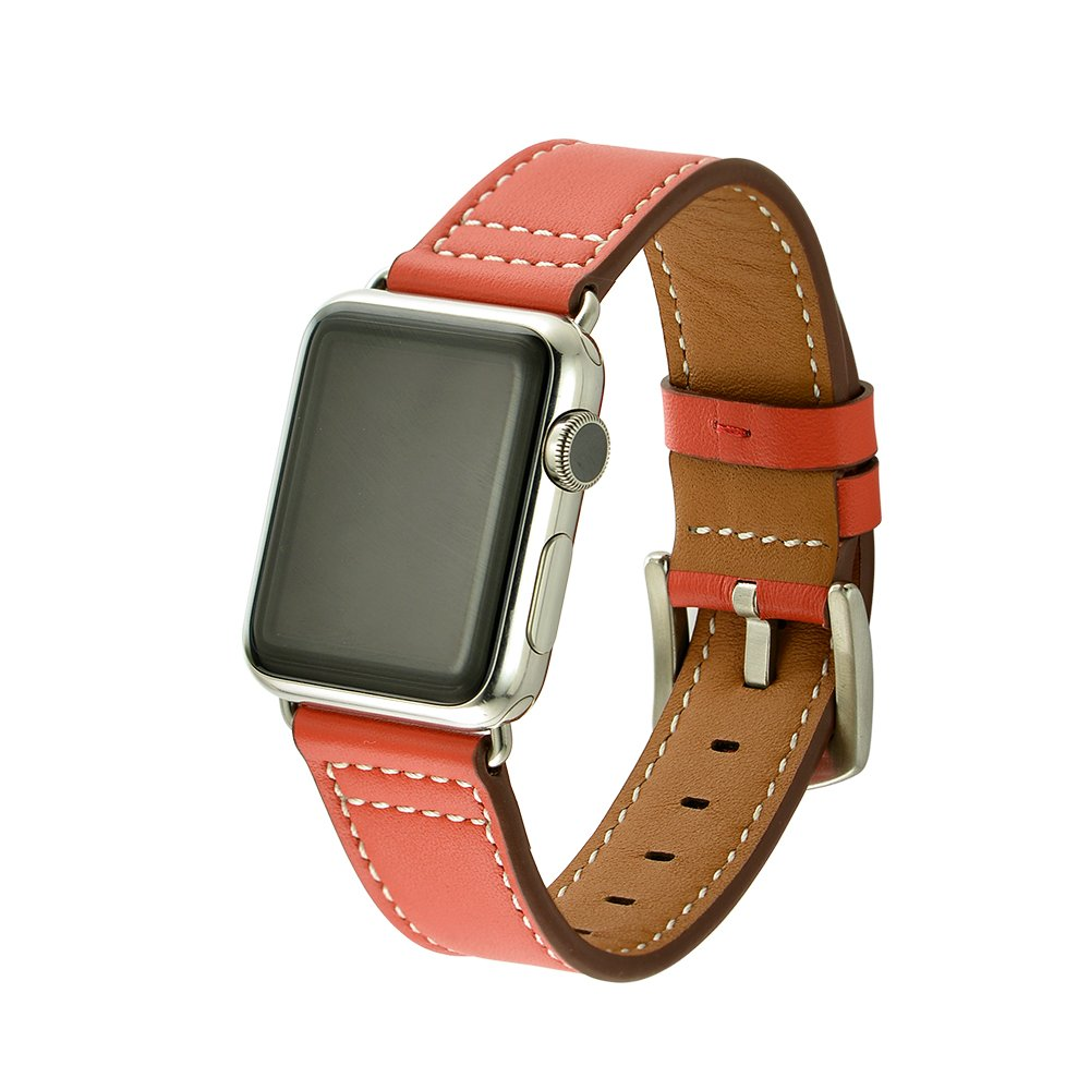 Apple Watch Band 42mm Series 3, Genuine Leather 42mm Lightweight Strap with Stainless Metal Buckle Fit for Men/Women's Apple Watch Series 3, Series 2, Series 1 & Sport & Edition