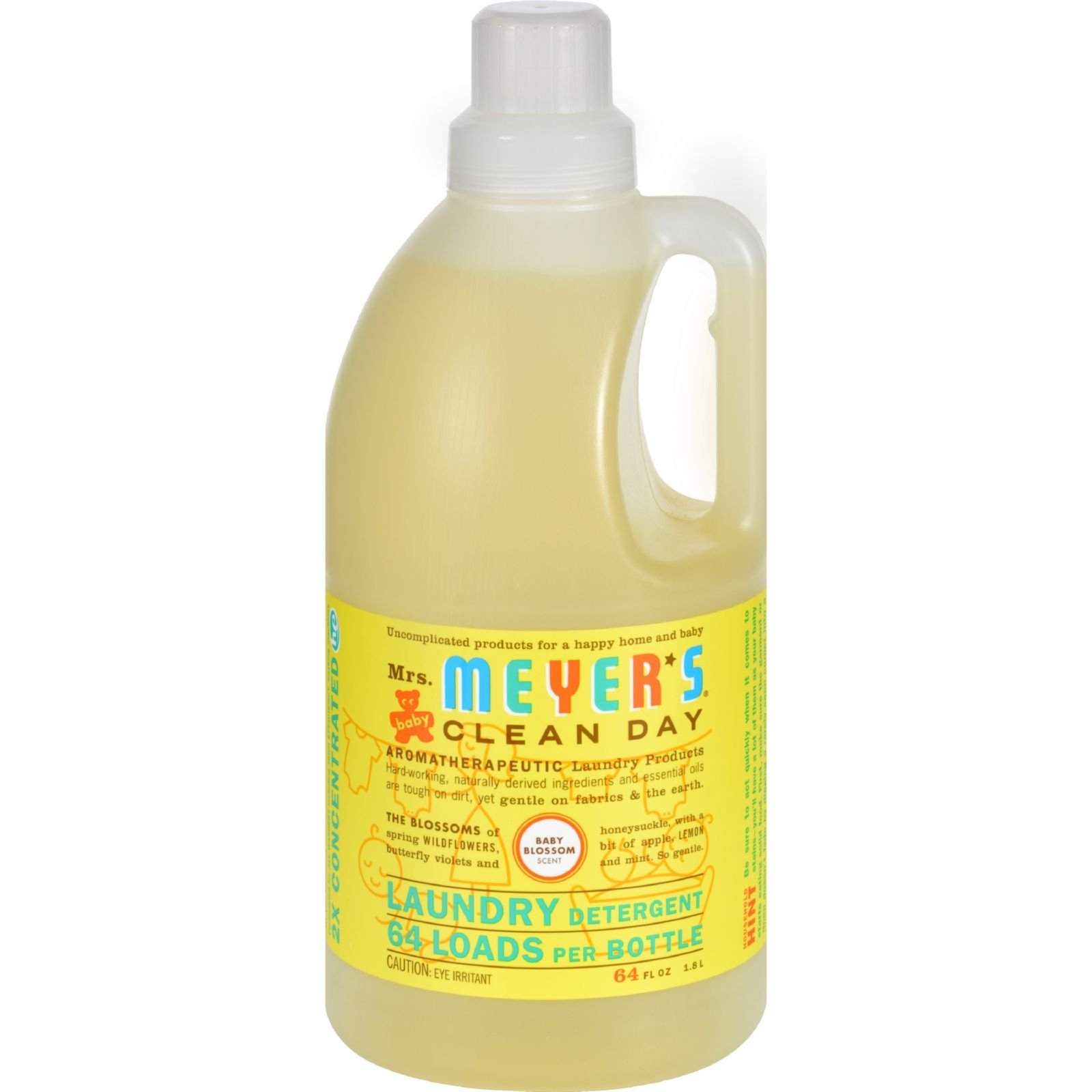 Mrs Meyers Clean Day 2X Baby Blossom Laundry Detergent, 64 Ounce -- 6 per case.