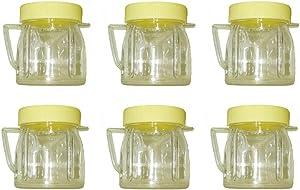 Univen 8 Oz Mini Blender Jars With Lid for Oster & Osterizer Blenders (6)