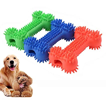 Amazon Com Ipetoo Rubber Dog Dental Chew Toy 3pcs Puppy Chew Toys