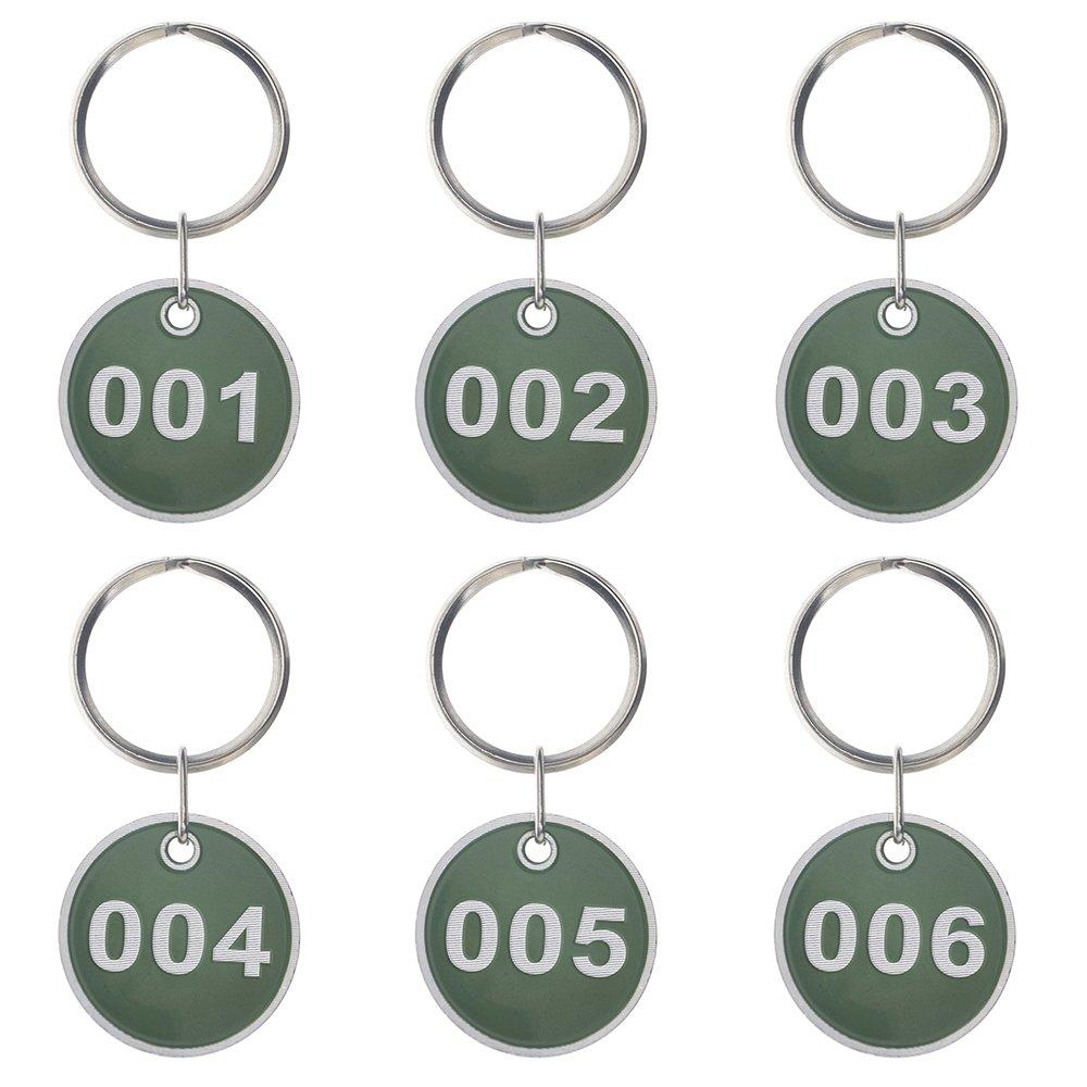 Aspire 50 Pack Metal Rim Key Tag Numbered Key Rings 30mm-Blue-1 to 50