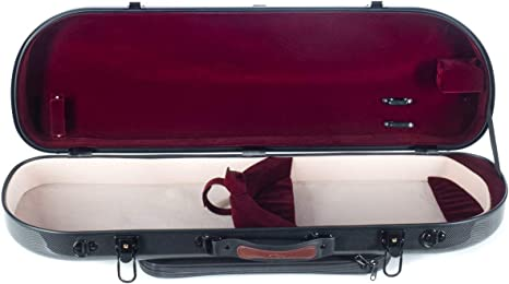 Estuche para violín fibra Street 4/4 point black - burgundy M-Case + Music bag: Amazon.es: Instrumentos musicales
