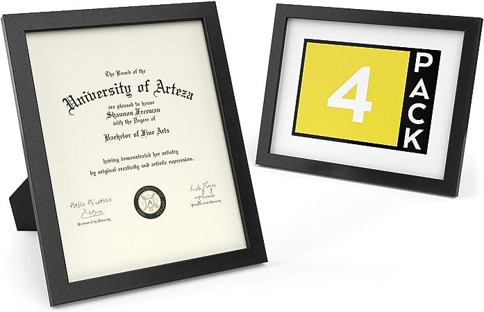 ARTEZA Marco para Diplomas | 21,6 x 27,9 cm | Pack de 4 ...