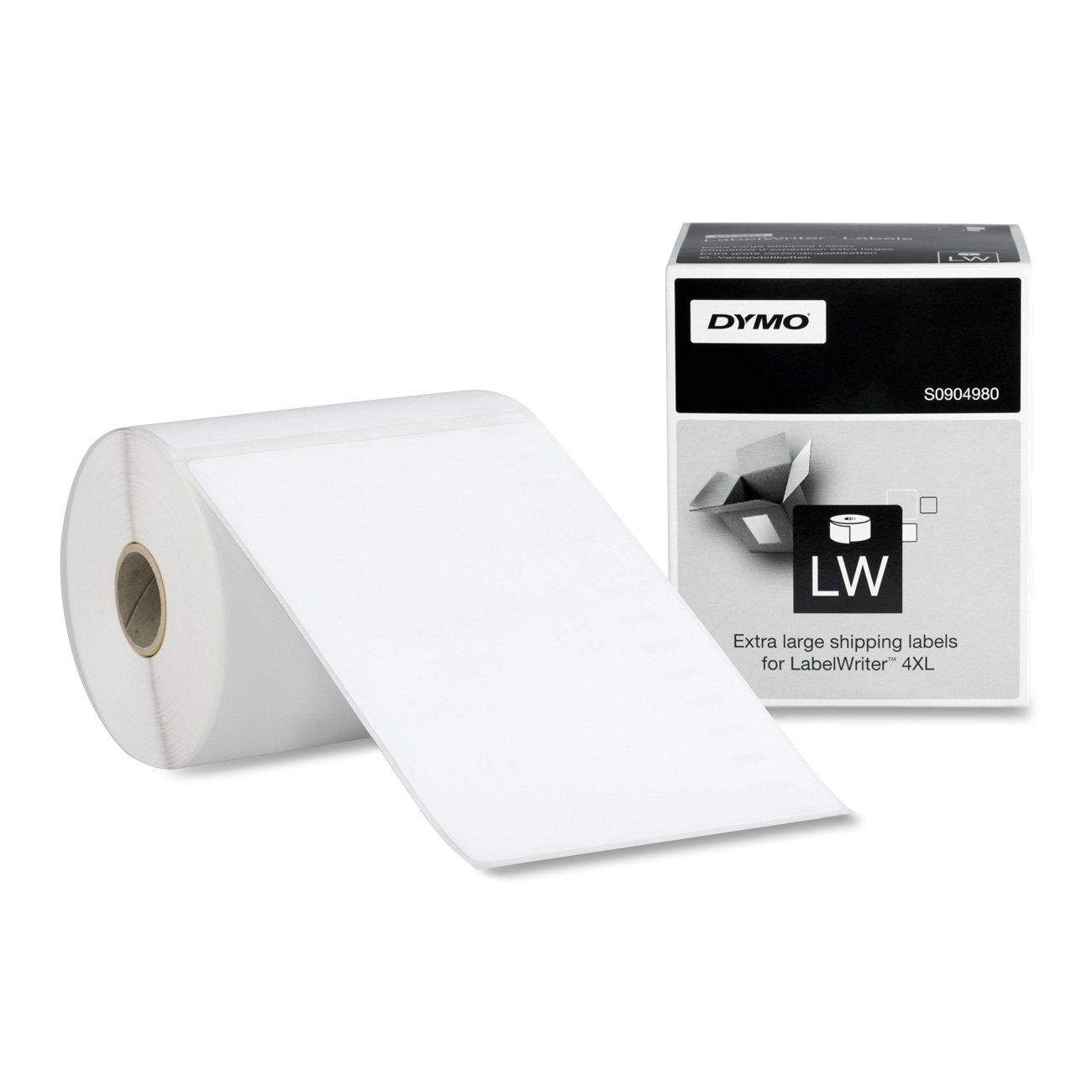 DYMO Authentic LW Extra-Large Shipping Labels for LabelWriter Label Printers, White, 4'' x 6'', 1 roll of 220 (1744907)
