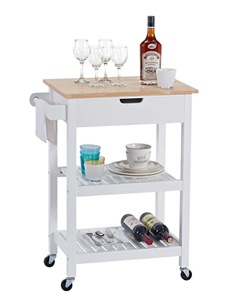 Linio Home Microwave Carts Rolling Kitchen Island Cart With Wheels White Kitchen Cart With Storage And Drawers Small Moveable Cart