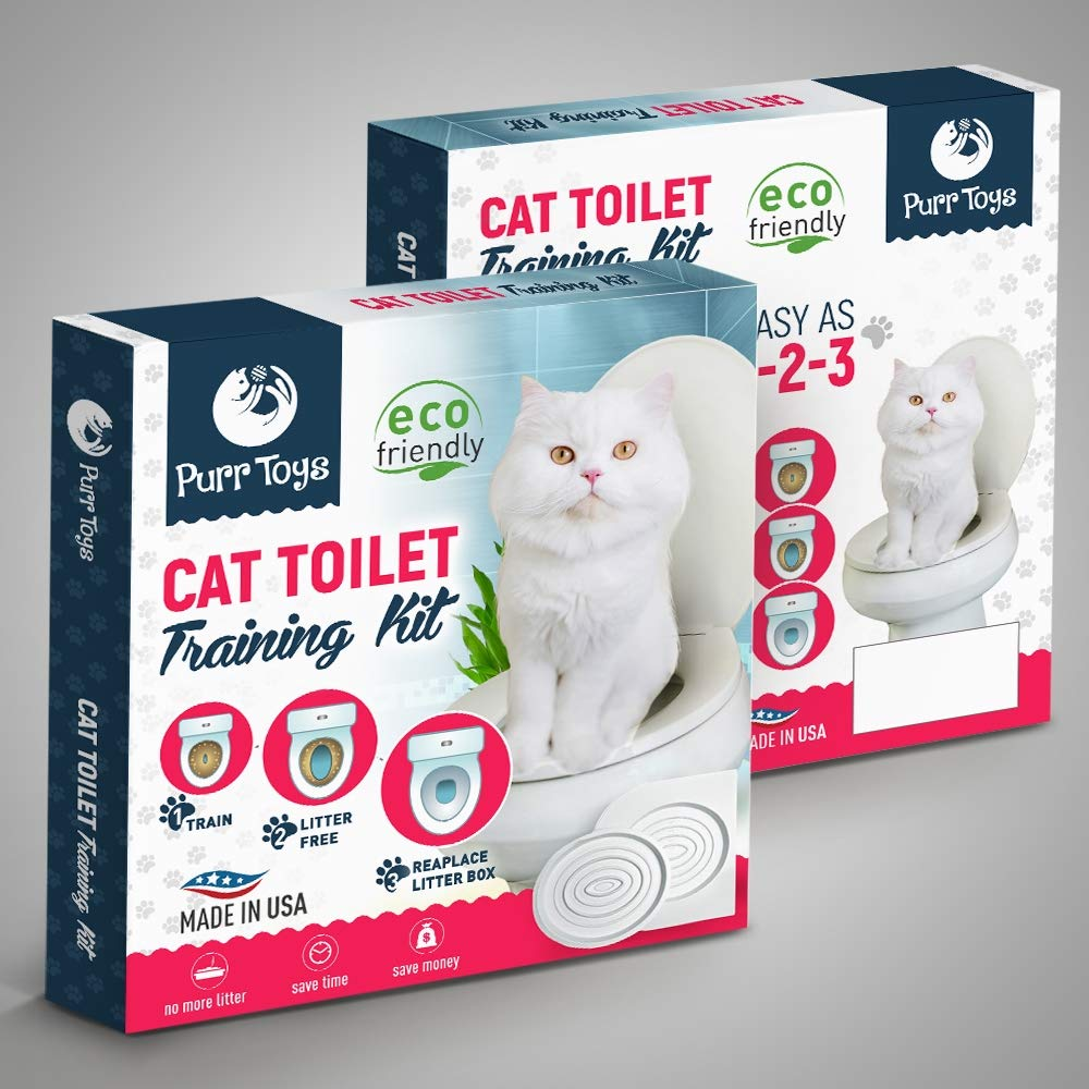 CitiKitty Cat Toilet Training Kit – As Seen on Shark Tank – Clean, Convenient Disappearing Litter Box Trainer