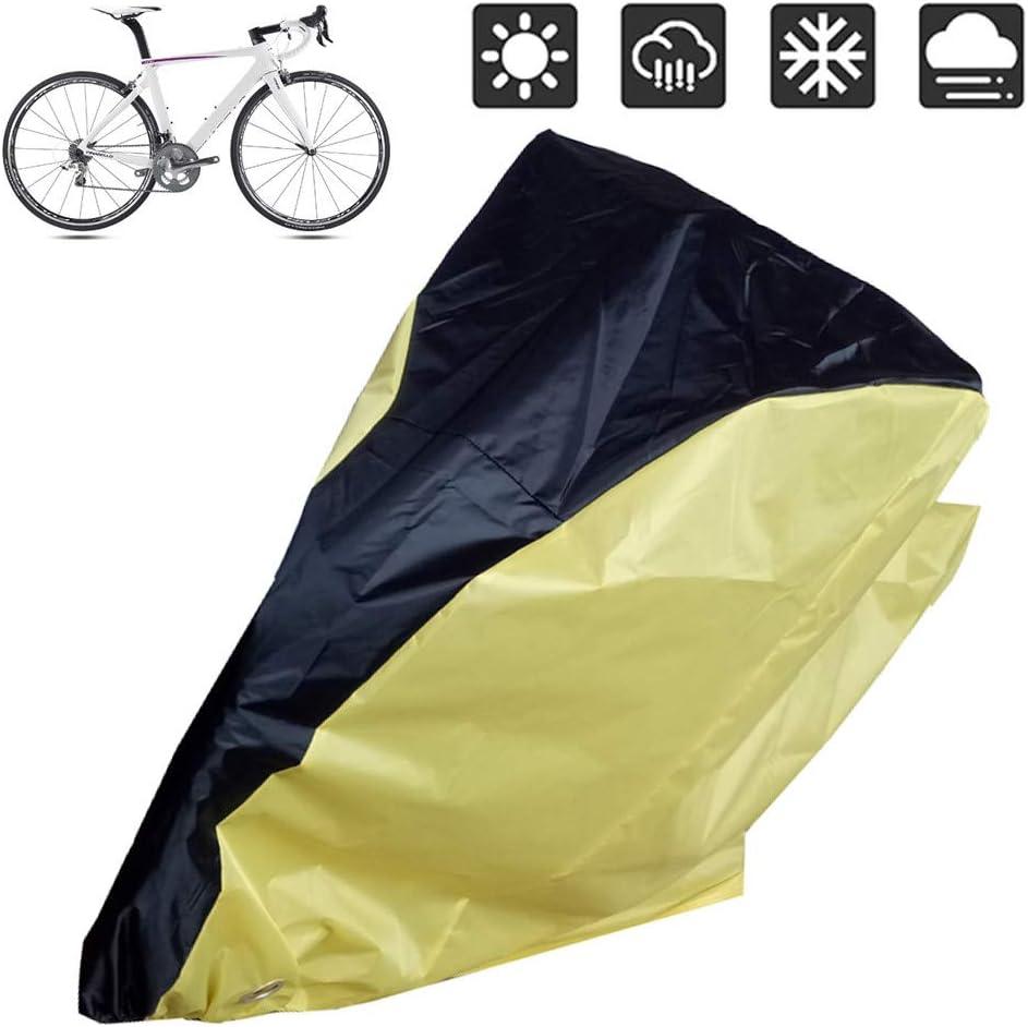 suneagle Funda Bicicleta con Cerradura Antirrobo,Prueba De UV Agua Lluvia Polvo Viento Nieve,Aplicar para La Cubierta De Bicicleta, De Bicicleta De MontañA, De Moto,Yellow-M: Amazon.es: Jardín