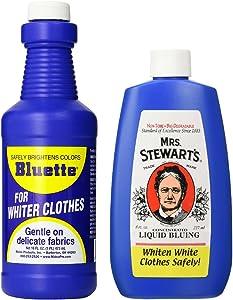 Bluing Bundle: Mrs. Stewarts Liquid Bluing 8 oz & Bluette Liquid Bluing 16 oz