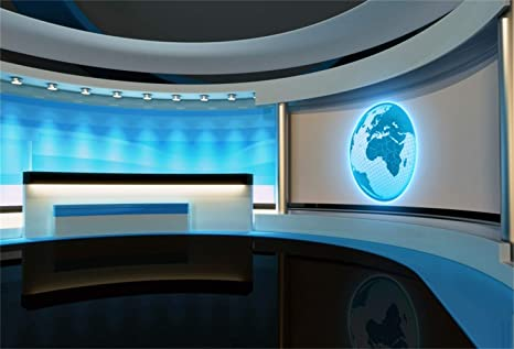 Laeacco Blue Grooved Broadcasting Room Backdrop Vinyl 10x7ft Online  Classroom Television Compere Photography Background TV Station Programing  Academic