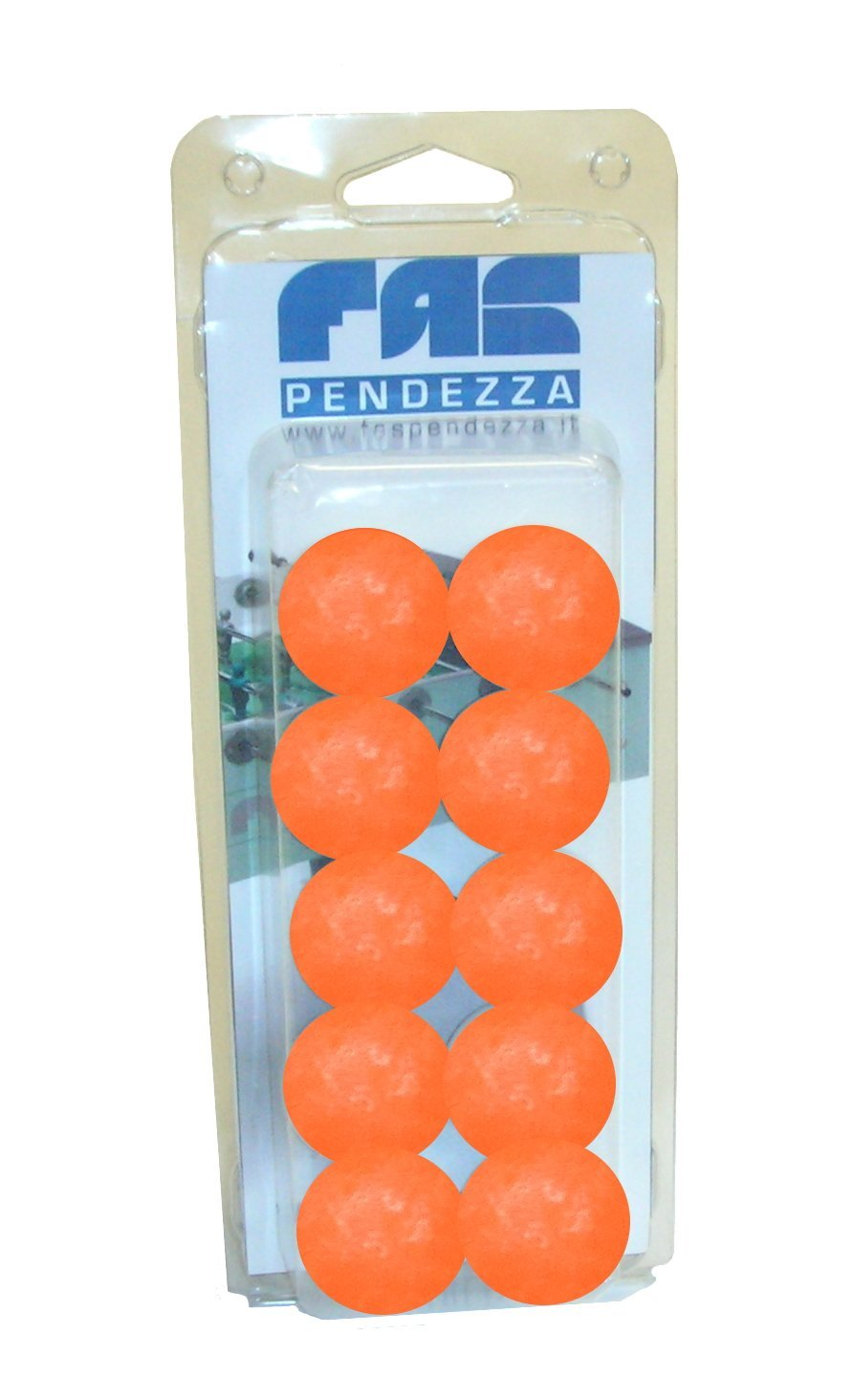 10 palline calcio balilla arancio FAS - GA19AR, Blister (confezione plastica) No name