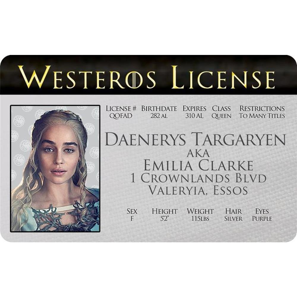 Signs 4 Fun Ngtidd Got Daeneryss Drivers License