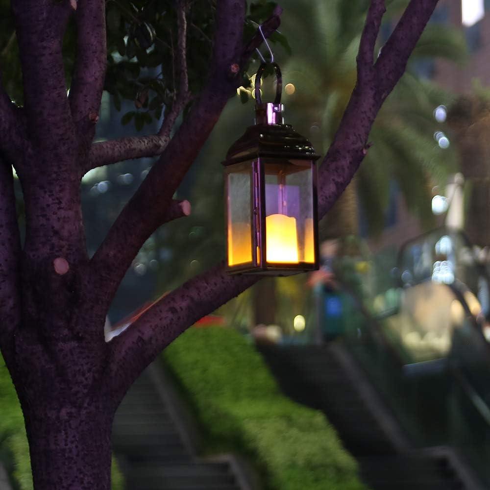 Style Vintage. JHY DESIGN Lanternes d/écoratives de 38,1 cm de Haut en Acier Inoxydable avec Verre tremp/é pour lint/érieur et lext/érieur Les f/êtes et Les Mariages Les /év/énements